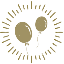 icon of golden balloons